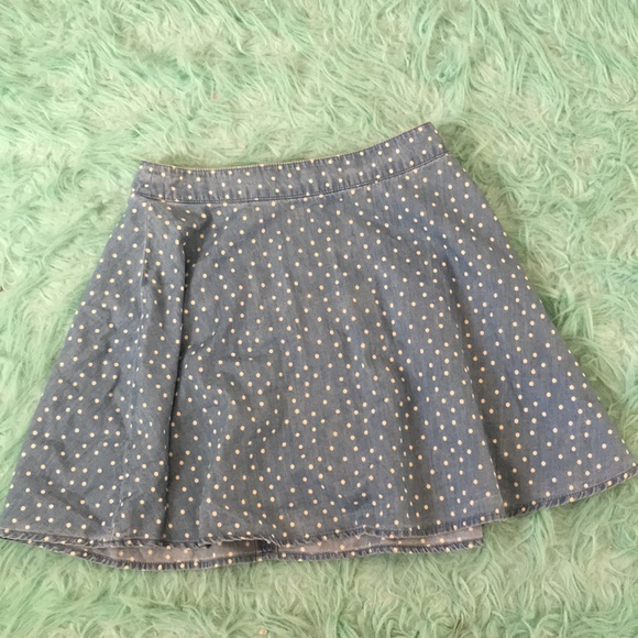 Forever 21 Dresses & Skirts - A blue with white pok-a-dots skirt.